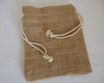 Jute Pouches with Drawstring - Set of 12 / Jewelry Pouches / Gift Wrapping