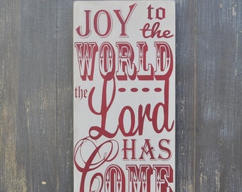 Christmas Decor, Christmas Sign, Christmas Decoration - Joy to the World- Christmas Gift, Holiday Decor,  Wood Sign