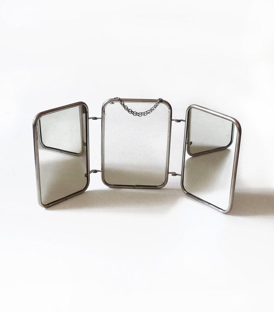 Miroir 3 volets vintage miroir 3 faces miroir triptyque for Miroir 3 volets