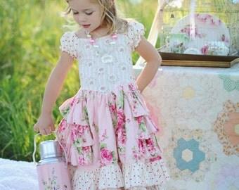 Buy 2 Get 1 Free.....Instant Download PDF Sewing Pattern Tutorial Sugarplum Princess Girl's Dress, 6-12m to 10/12