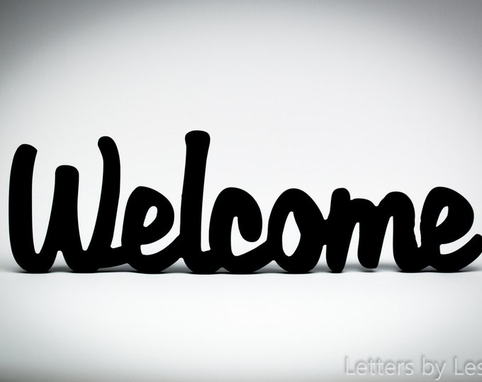 Wooden Wall Sign - Welcome - Wall Home Decor - Business Decor - Business Welcome Sign