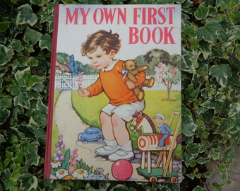 Vintage, child's 'First Book' from the 1940's gorgeous illustrations and delightful stories