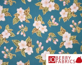 Spaced Cherry Blossoms Fabric
