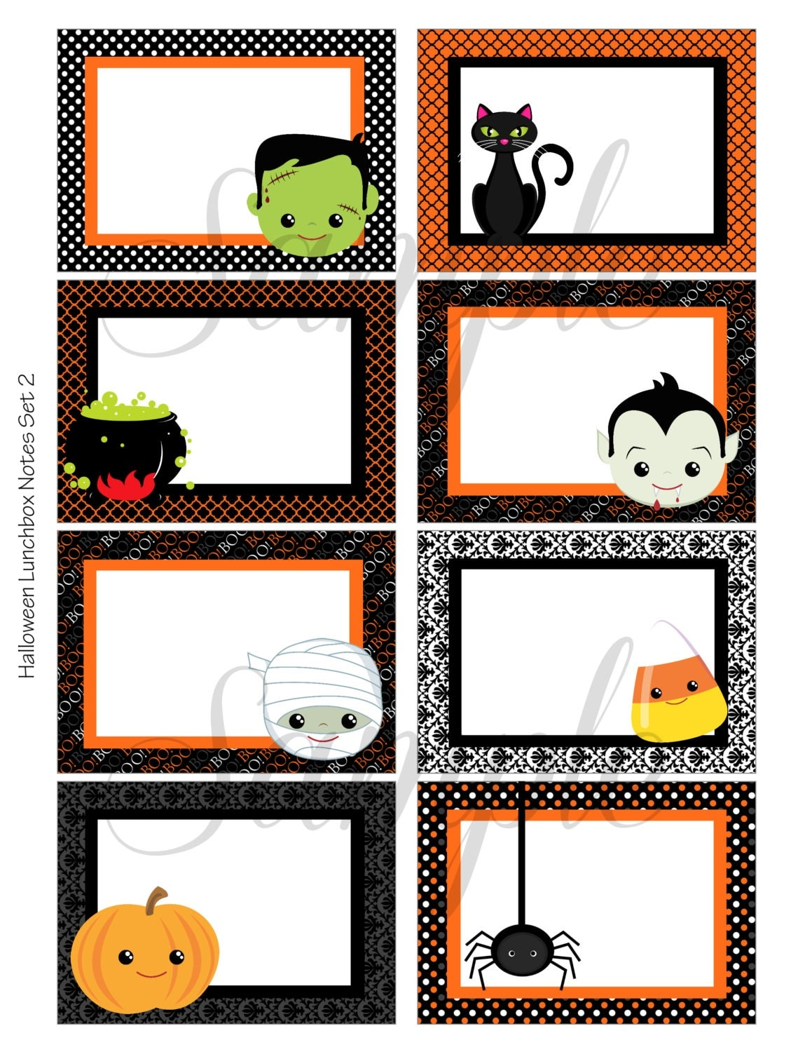 This is a photo of Old Fashioned Free Printable Halloween Cards