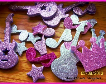 Royals And Rockers Glitter 3D Foamies Stickers - HUGE BOX of Over 100 Stickers