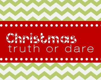 Christmas Truth or Dare Game for Kids