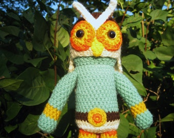 Owl Boy -handmade crochet, made to order