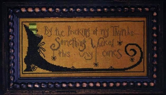 Cross Stitch Pattern - Something Wicked