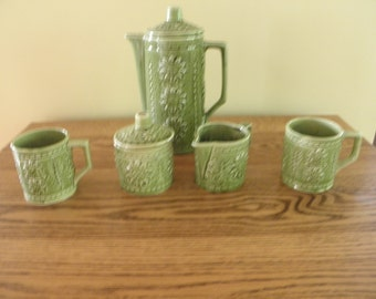 1970's Flowered Tea For Two Set