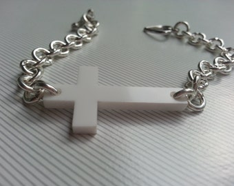 Acrylic Cross Bracelet