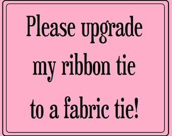 Fabric Shoulder Tie Upgrade