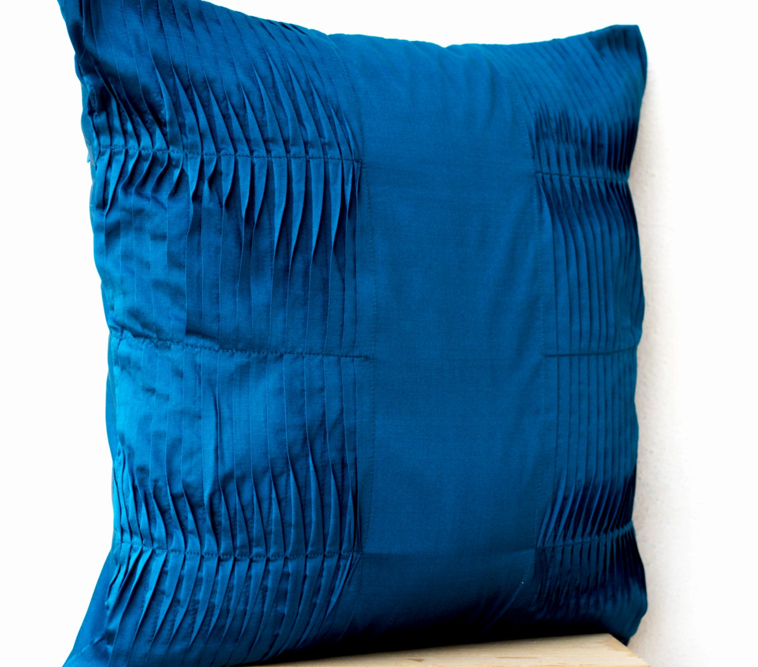 Decorative Cushion Turquoise Blue Pillow Cover Cotton Throw