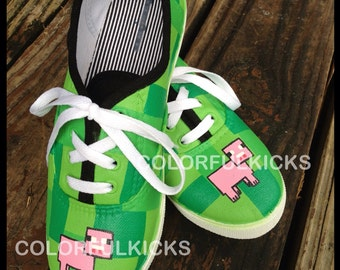 Minecraft Canvas Slip-On Shoes