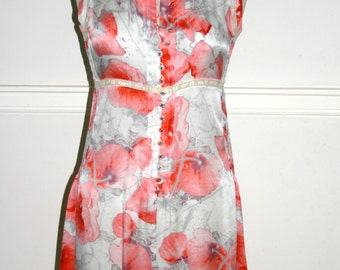 CHANEL SILK DRESS Poppy Print