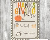 Thanksgiving Feast Invite- 5x7 JPG - AStitchOfHandmade