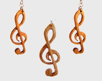 Jewelry set oak ' clef ' ""