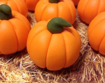 Fondant Fall Pumpkin Cupcake Toppers