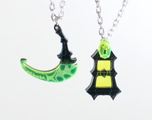 League of Legends Thresh Scythe and Lantern Necklace or Keychain