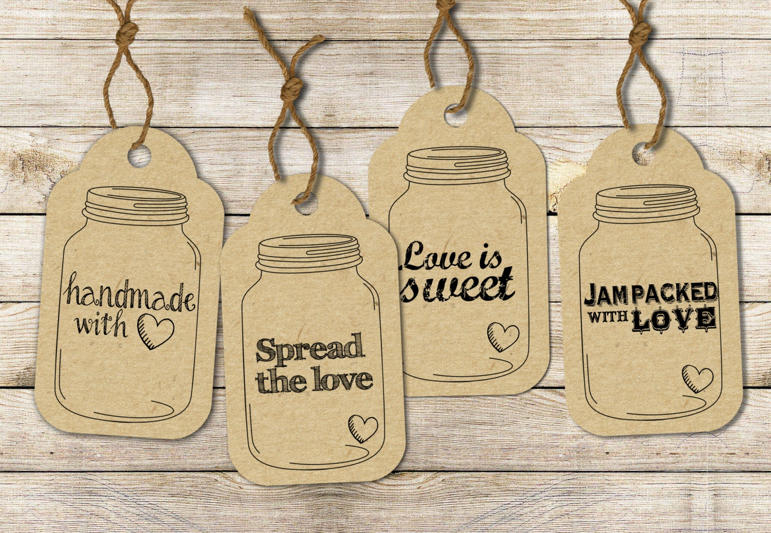 This is a photo of Unforgettable Free Printable Mason Jar Labels