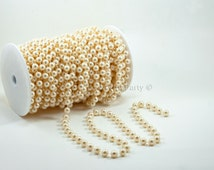 10mm Ivory Fused Pearl String Beads on a Roll / Spool (23 yards string of pearls strand)