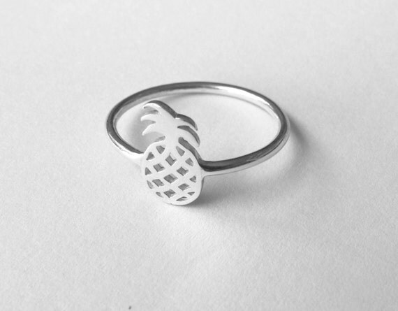 pineapple sterling silver ring made to order