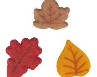 Shimmer Leaves Edible Sugar Dec-ons