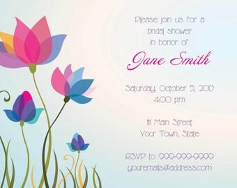 Whimsy Flower Invite