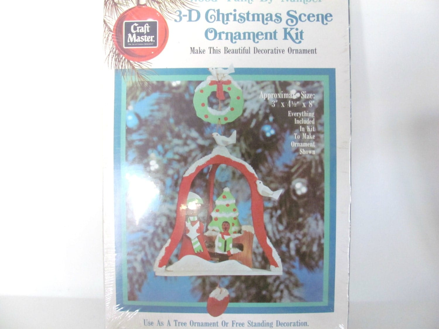 Craft master paint by number kits - Vintage Christmas Crafts 1970 S Craft Master Paint By Number Wood Ornament Kit Christmas Caroler Ornament Christmas Decor