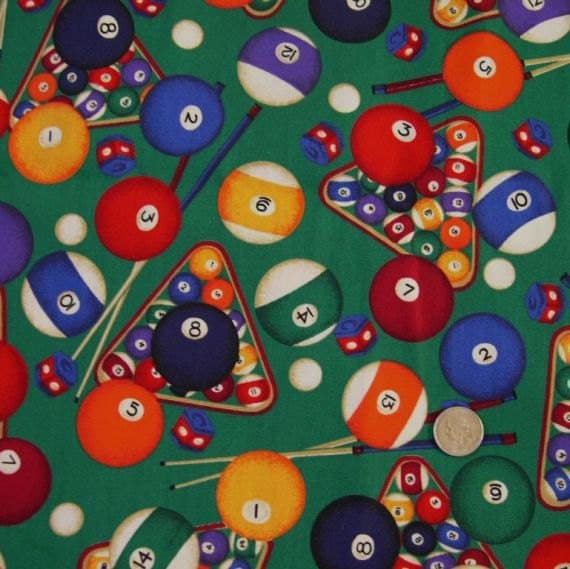 Billiards Pool Cotton Print Fabric Vip Made In By