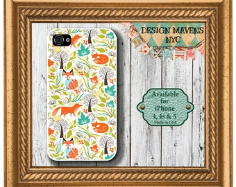 Forest Fox iPhone Case, Fall iPhone Case, Gift for her iPhone, iPhone 4, 4s, iPhone 5, 5s, 5c, iPhone 6, 6s, 6 Plus, SE, iPhone 7, 7 Plus