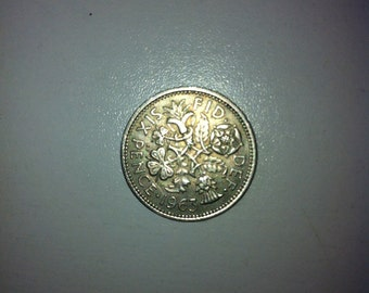 1963 Wedding Sixpence Coin - Lucky Wedding Sixpence for the Bride