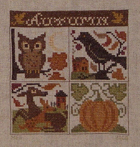 Jan Hagara Cross Stitch Patterns: The Prairie Schooler Autumn Leaves