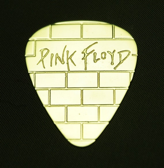 pink floyd brass guitar pick by colemancustompicks on etsy