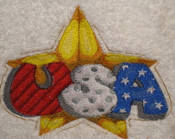 Embroidered Patrotic Hanging 4th of July USA Towel
