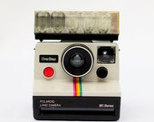 Polaroid Land Camera rainbow stripe vintage retro one step bc series