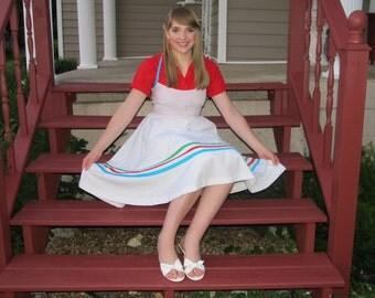 Retro 50's Petticoat Dress Halter Strap Day Dress, Sun Dress Bridesmaide Sz. US 10