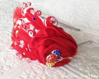 Birthday Headband - Balloon Headband - Rainbow Headband - Feather Headband - Christmas Gift for Girls - Roaring 20s - Hot Air Balloon