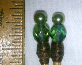 MK214 Beaded Knitting Needles ... US Size 4 (3.5 mm)