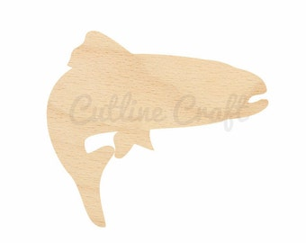 trout fish cutout 271 crafts gift tags ornaments laser cut birch wood various sizes