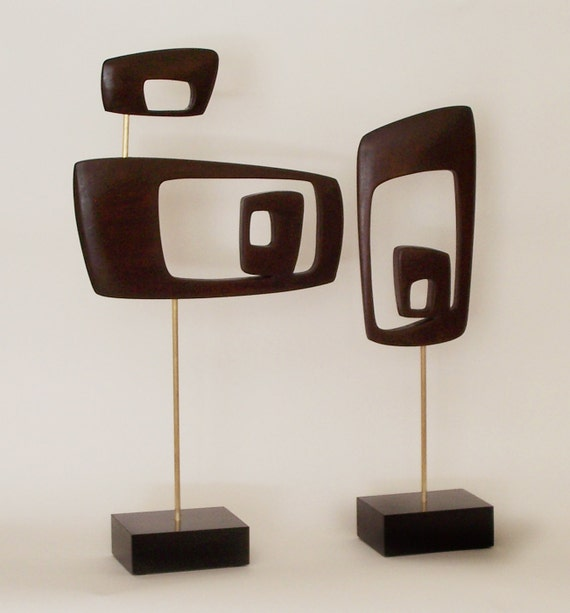 Mid Century Modern Abstract Sculpture Retro By