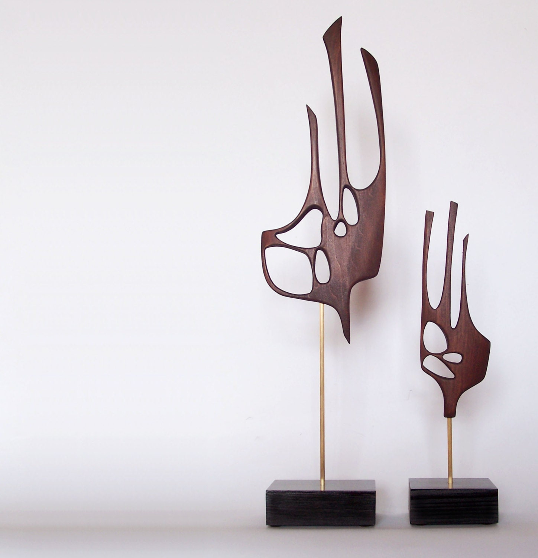 Mid century modern abstract sculpture danish modern retro tiki for Art moderne sculpture