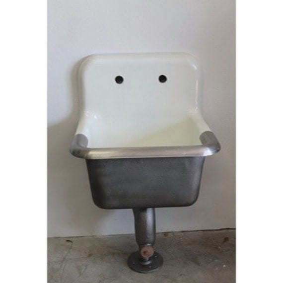 Janitorial Sink : Industrial Janitorial Slop/Mop Cast Iron Sink by Warehouse14