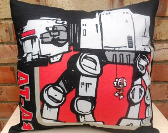 Star Wars Vehicle, ATAT, Millenium Falcon, Tie Fighter Fabric Cushion Selection - handmade by Alien Couture