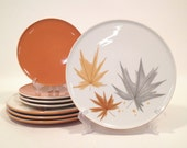 Ben Seibel Harvest Time, Informal True China by Iroquois / 8-Piece Set / Mid Century Dishes