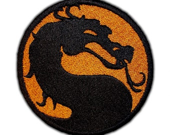 Mortal Kombat Emblem Patch.