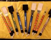 The Original Hockey Stick Grilling / BBQ Tool Set with Dual Brush
