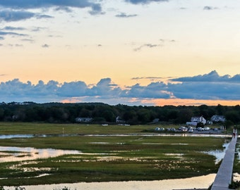 Sandwich Boardwalk Cape Cod Summer Salt Marsh Sunset Fine Art Print Wall Art Wall Hanging