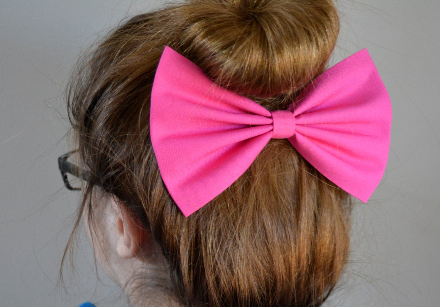 Hot Pink Hair Bow Hair Bows For Teens Women Fabric Bows