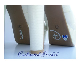 NEW Disney Inspired Tiny Minnie I Do Shoe Stickers You Pick Color Sparkly Wedding Shoe Decals