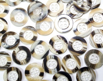 25 PCS Lightweight Buttons with 4 Holes - for Sewing, Fashion and Accessories.